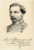 line drawing of General Beauregard