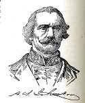 line drawing of General Albert Sidney Johnston