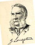 line drawing of General James Longstreet