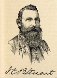 line drawing of General JEB Stuart