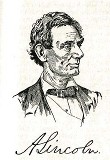 line drawing of President Abraham Lincoln